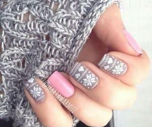 blanco, delicado, and nail image