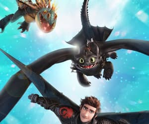 blue, hiccup, and how to train your dragon image
