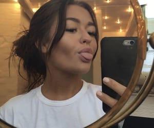 girl, selfie, and beauty image