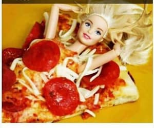 barbie, pizza, and carbs image