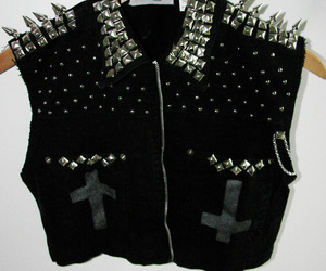 black, spikes, and cool image