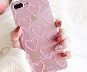 phone, girly, and heart image