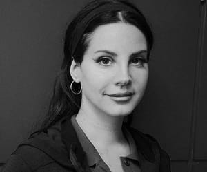 black and white, lana del rey, and portrait image