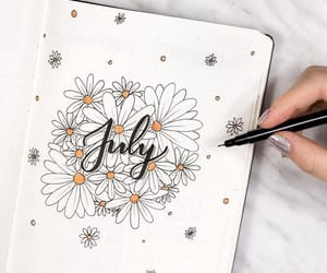 july, art, and bullet journal image