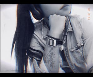 black and white, casio, and headphone image
