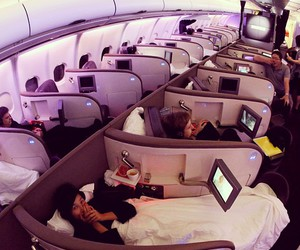 plane, bed, and airplane image