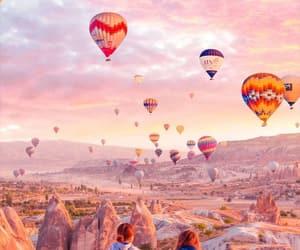 balloon, cappadocia, and stone image