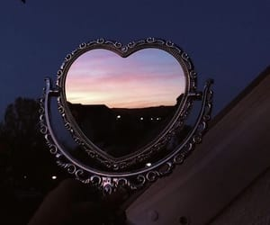 mirror, heart, and aesthetic image