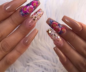 clear, gold, and nails image