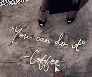 coffee, gold, and words image