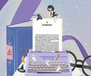 dessin, machine a ecrire, and bloggeuse image