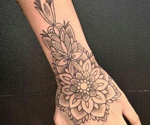 tattoo, mandala, and flowers image