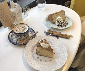 cafe, cake, and pale image