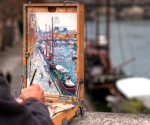 art, paint, and landscape image