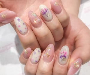 flowers, gems, and nails image