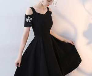 prom dresses, black party dress, and prom dress short image