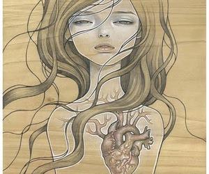 heart, art, and audrey kawasaki image