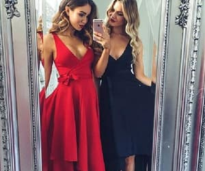 prom dresses, sexy prom dress, and v-neck prom dress image