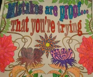 ambition, hand colored poster, and hippie artist image