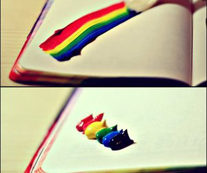 rainbow, colors, and paint image