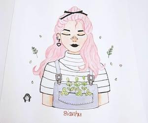 girl pink hair image