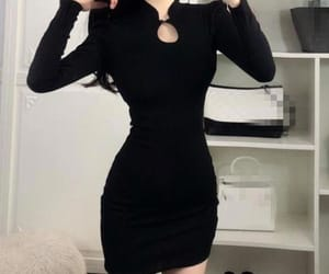 aesthetic, black, and dress image