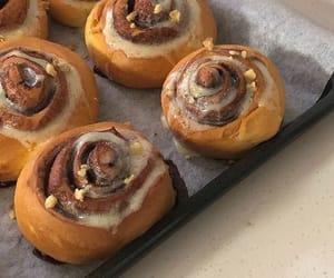 dessert, cinnamon buns, and cinnamon rolls image