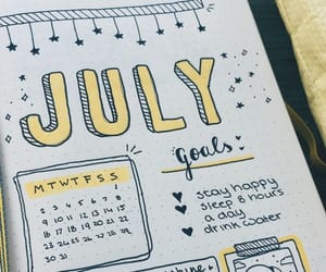 bullet journal, journal, and school image