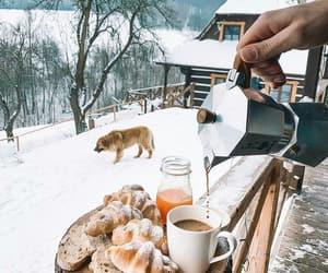 breakfast, coffee, and dog image