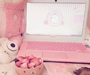 pink, kawaii, and strawberry image