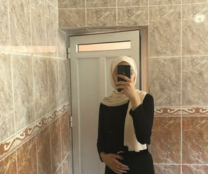 hijab, muslim, and veiled image
