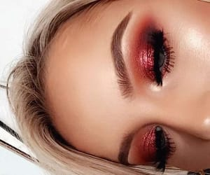 blonde, make, and makeup image