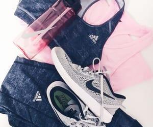 adidas, bottle, and bra image