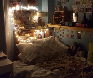 bed, inspo, and lights image