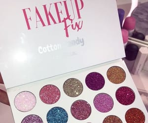 beauty, eye shadow, and cotton candy image
