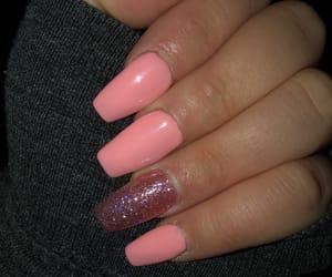 long, nails, and pink image