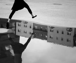 puddle, city, and jump image