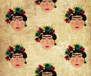 frida kahlo, background, and pattern image