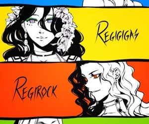 anime, regice, and regirock image