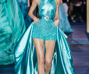 Couture, dress, and runway image