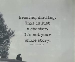 breathe, life, and words image