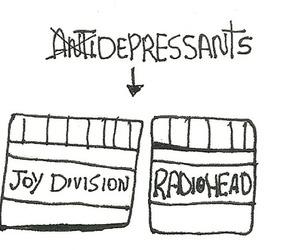 radiohead, joy division, and rock image