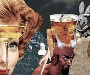 art, dali, and drink image