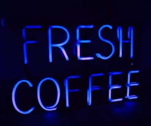 coffee, neon, and neon signs image