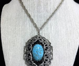 mid century, statement piece, and faux turquoise image