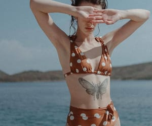 beach, tattoo, and butterfly image