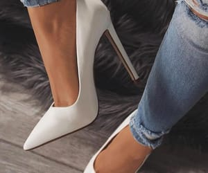 white, fashion, and heels image