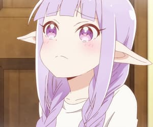 anime, blush, and elf image