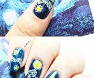 nail art, nailpolish, and van gogh image