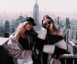 best friends, city, and style image